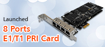 8 Ports PRI card Launched