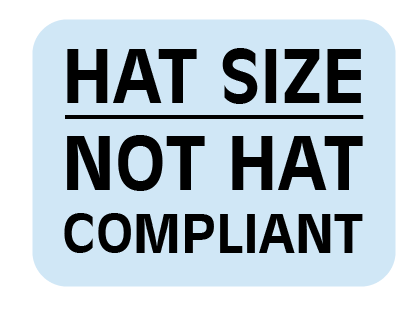 HAT Size Not HAT Compliant