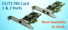 PRI 2nd Gen card 1 & 2 Port available in stock